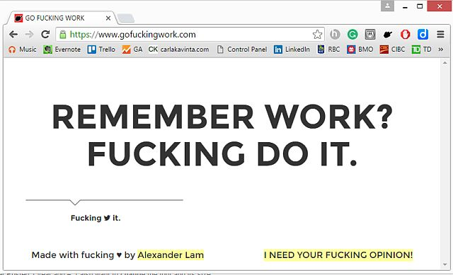 Screenshot of gofuckingwork.com