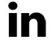 LinkedIn logo - black