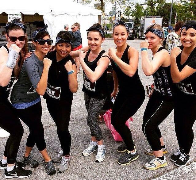 Ariad girls at the Mud Hero 5K 2015 Run, Toronto, Canada