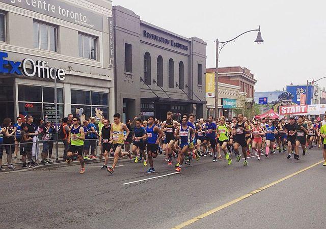 Start of the Sporting Life 10K 2015, Toronto, Canada