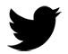 Twitter logo - black