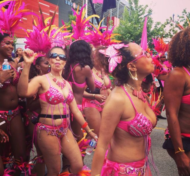 Carribana Parade dancers at Carribana 2015, Toronto, Canada