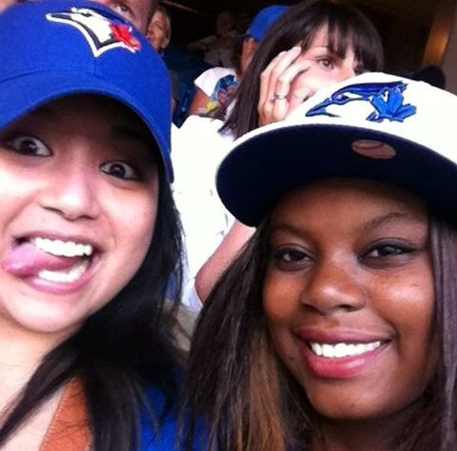 Kim and me at a Blue Jay's game, Toronto, Canada