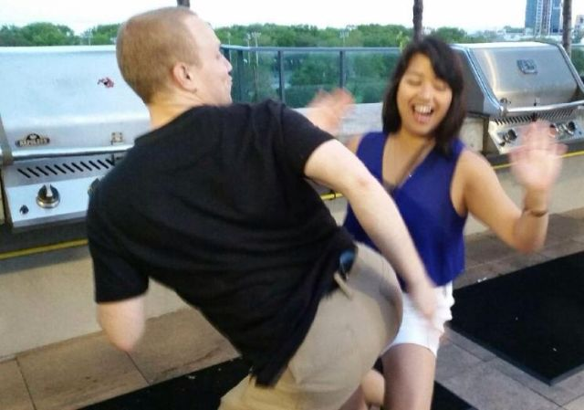 Me and my boyfriend Mike dancing and having fun